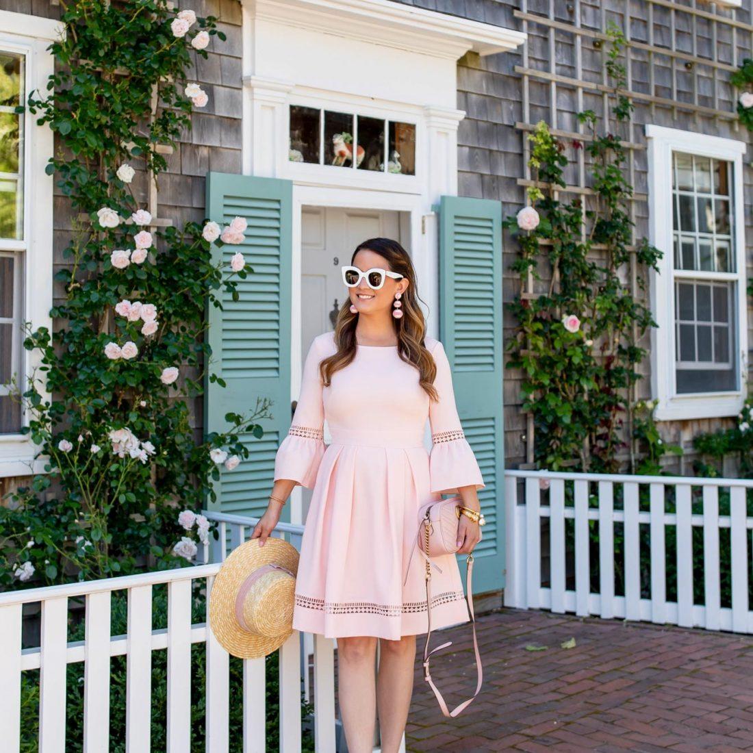 Blush Bell Sleeve Dress