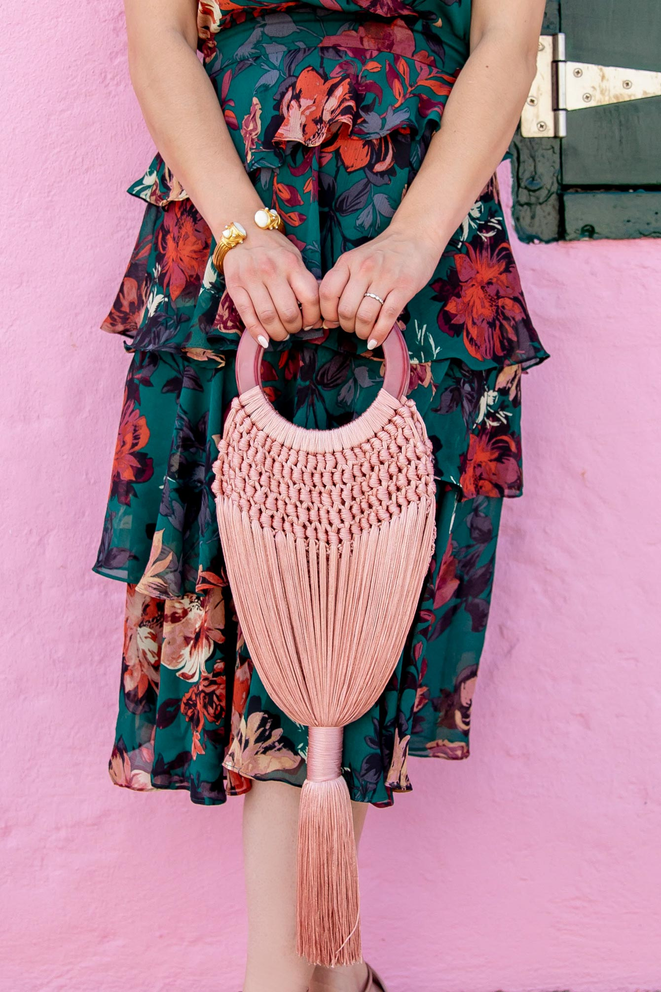 Cult Gaia Pink Angelou Bag