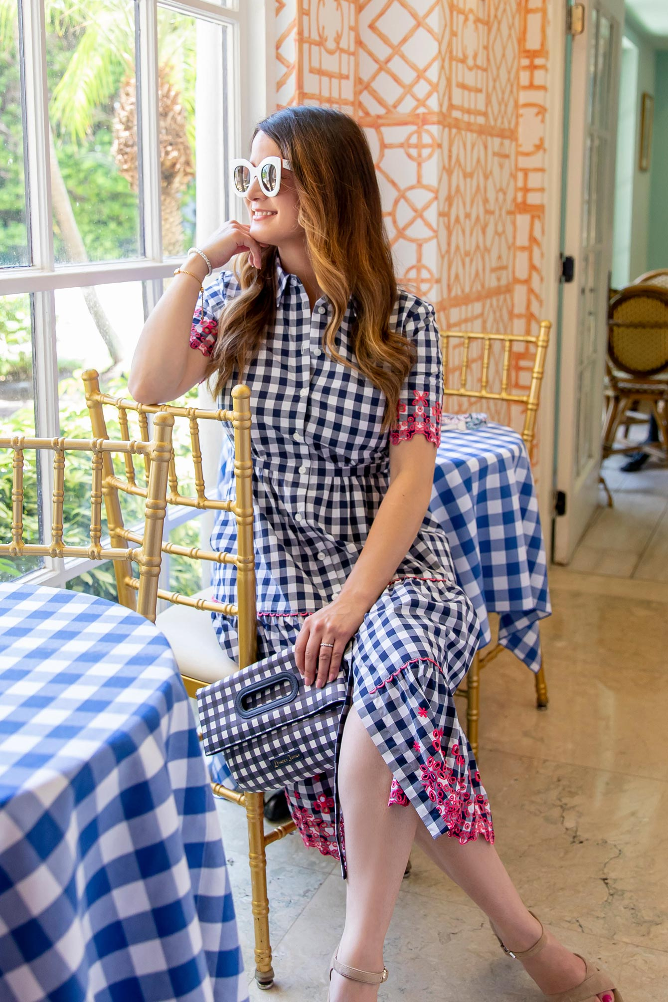 Jennifer Lake Gingham Dress