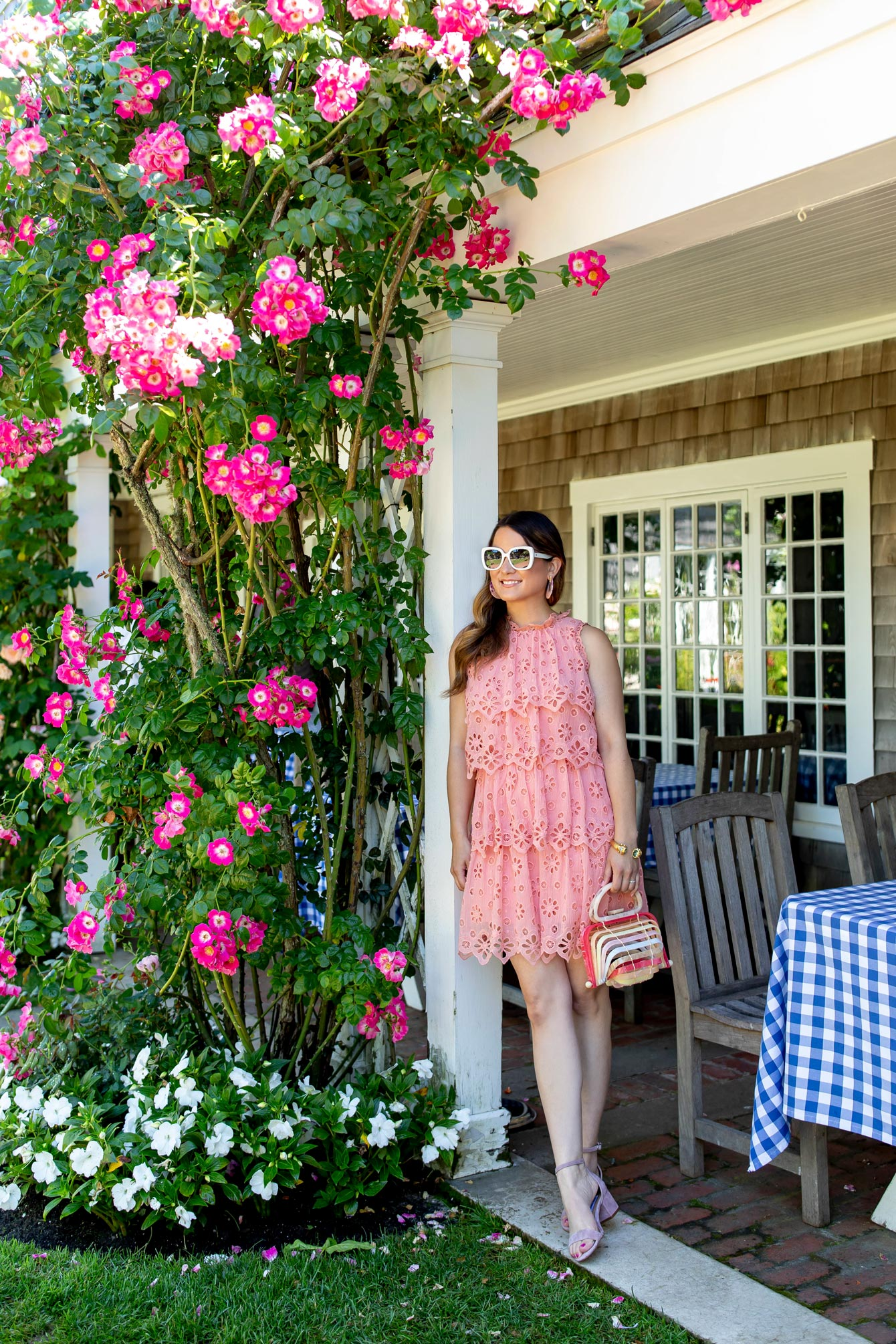 Jennifer Lake Nantucket Pink Lace Dress