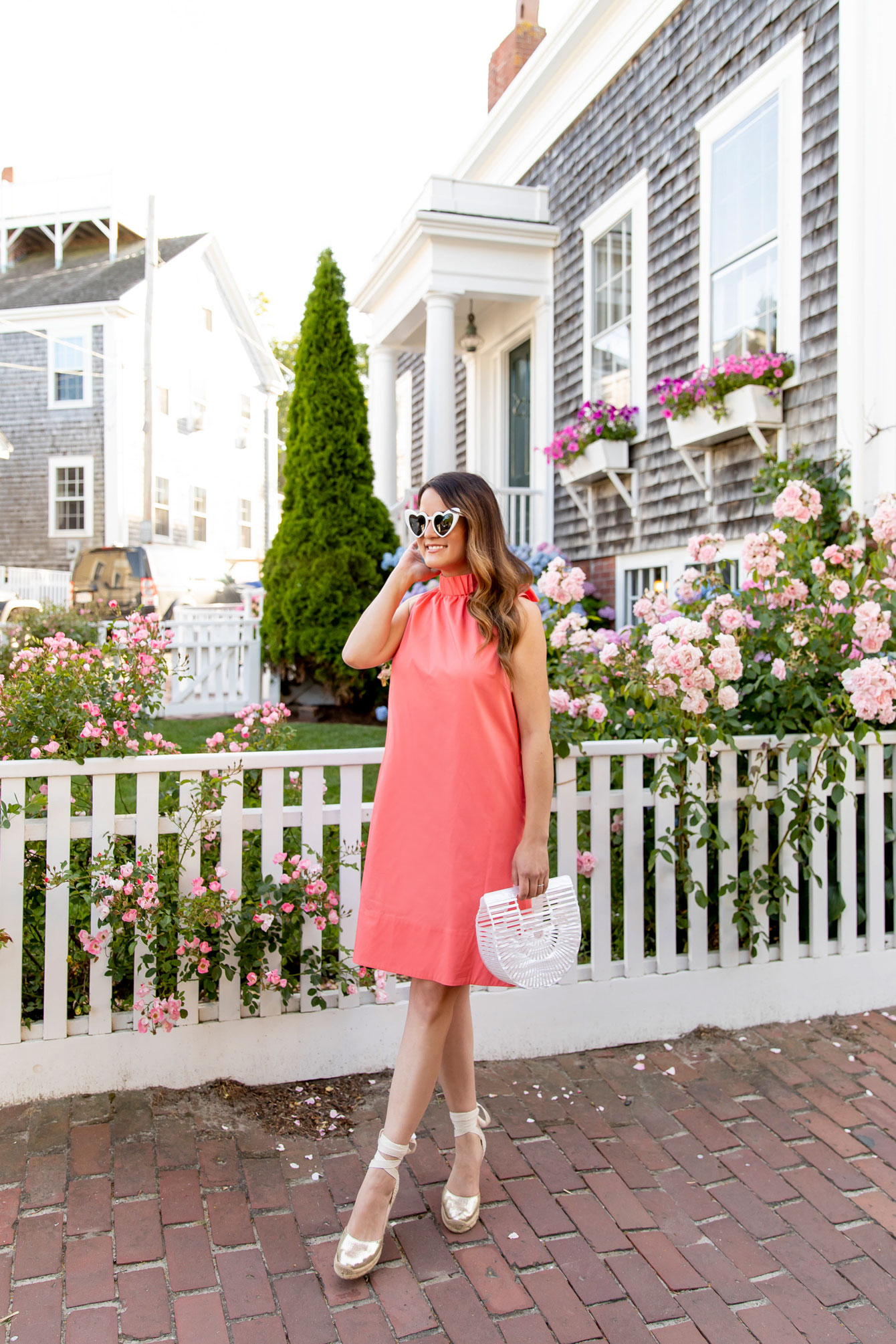 Jennifer Lake Orange Dress Nantucket