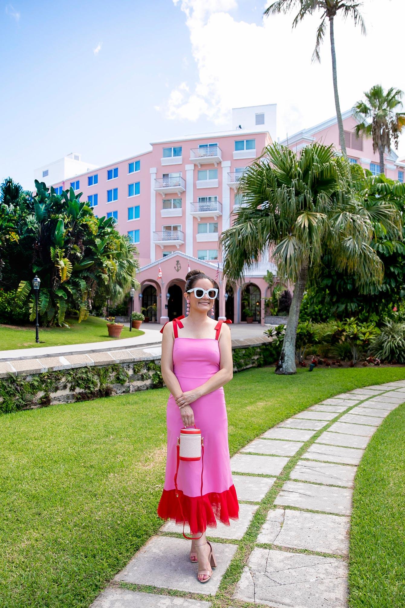 Jennifer Lake Pink Staud Dress
