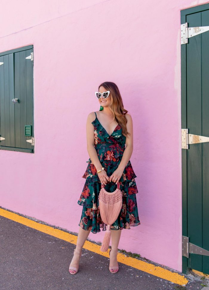 The Perfect Transitional Floral Dress for Fall