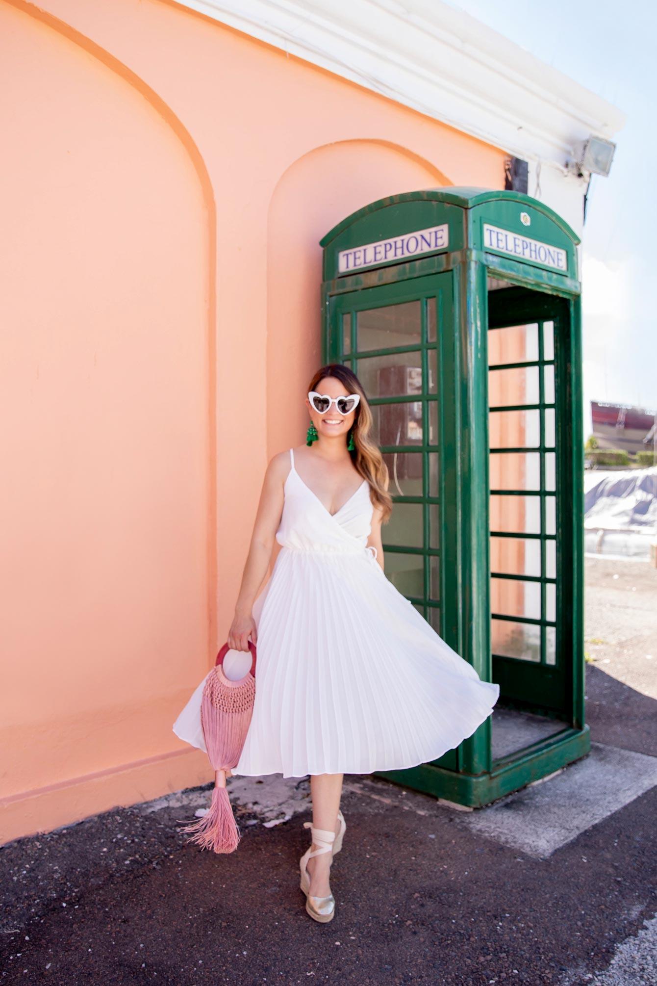 Jennifer Lake Twirling White Dress