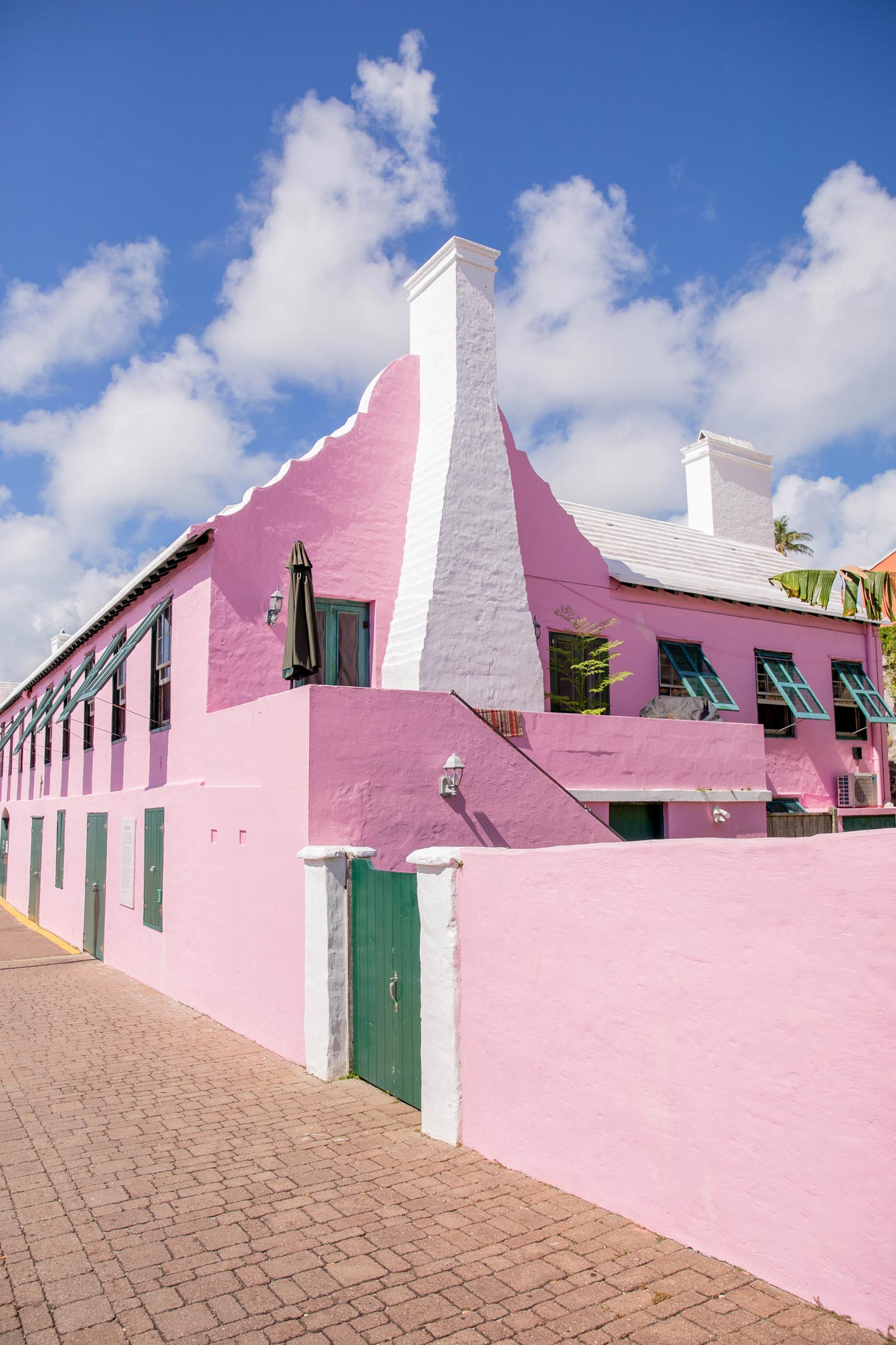 Pink Buildings Bermuda
