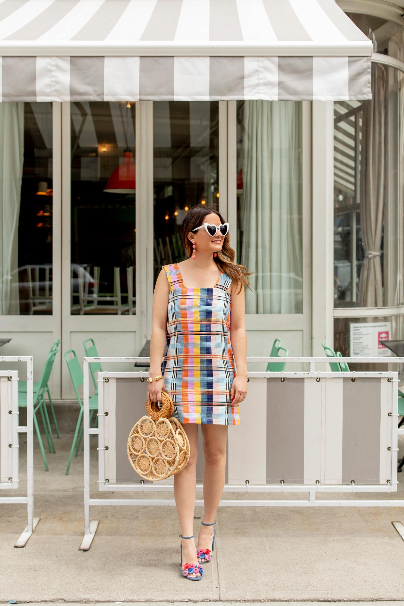 Plaid Tweed Pinafore Dress