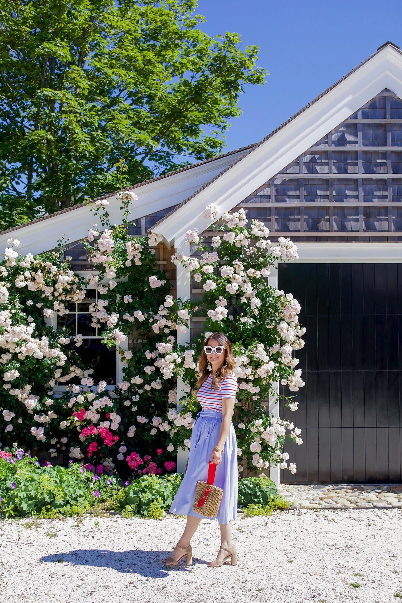 Rose Covered Garage Nantucket
