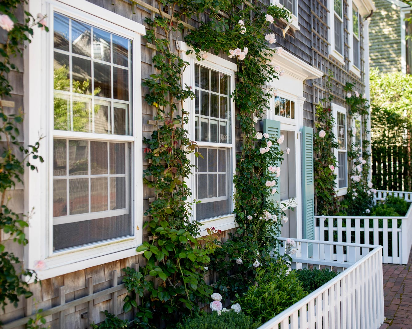 Rose Covered Nantucket Home