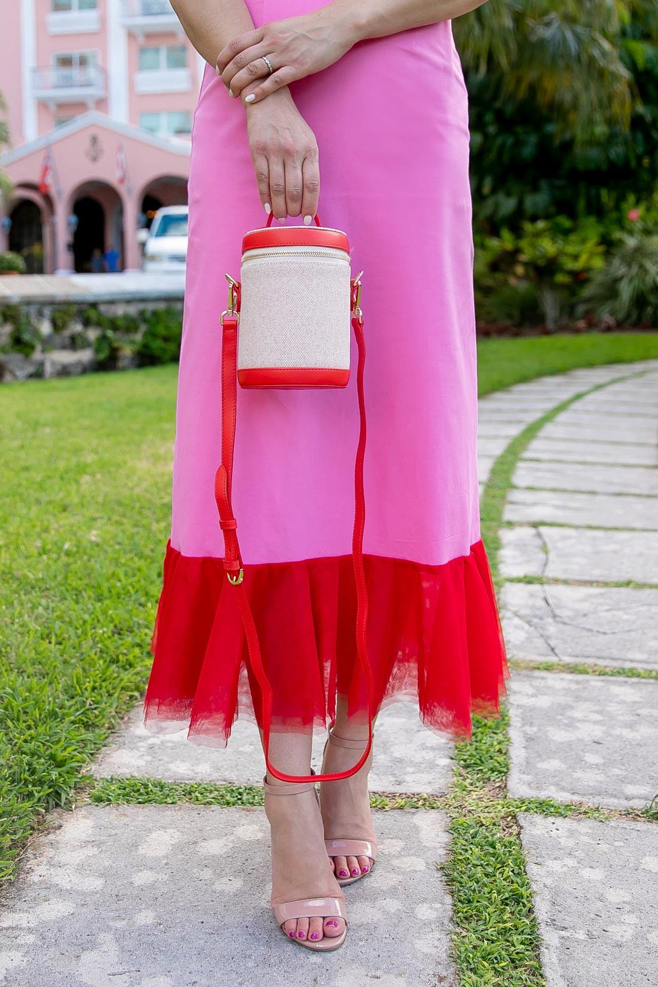 Paravel Red Capsule Bag