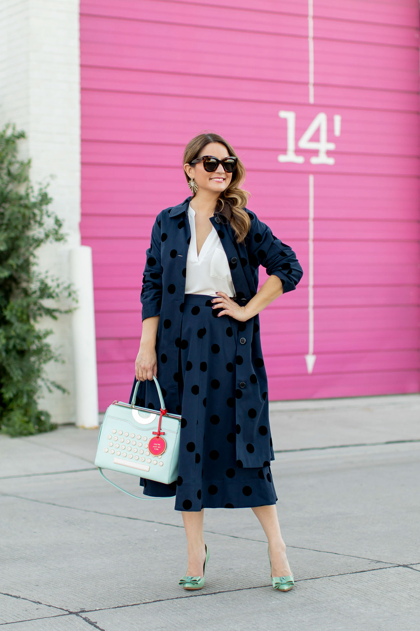 1901 Polka Dot Midi Skirt