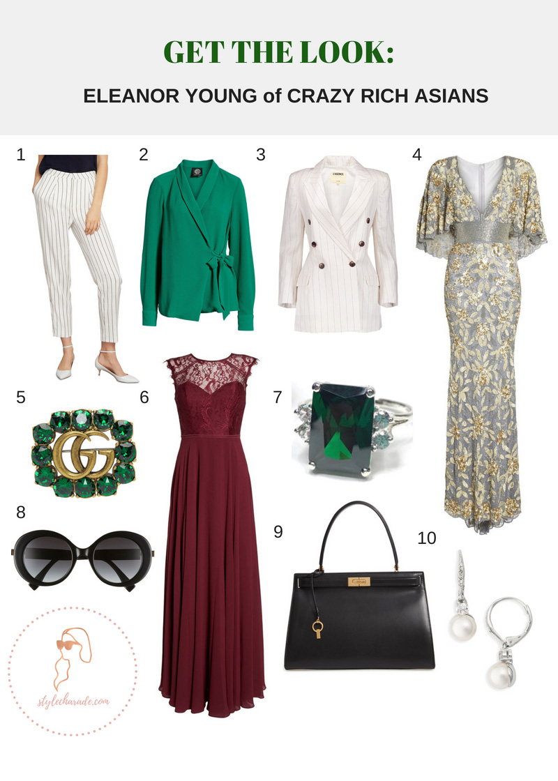 Crazy Rich Asians Eleanor Young Outfit Ideas