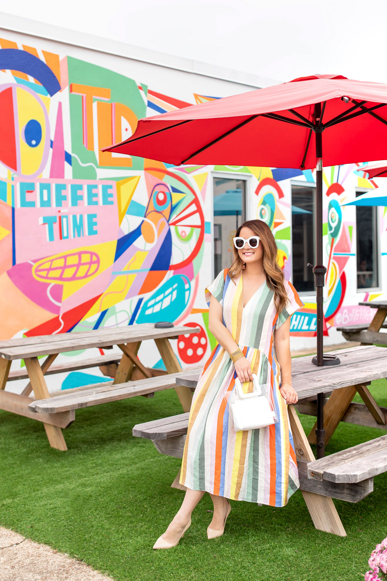 Colorful Coffee Time Mural Nashville
