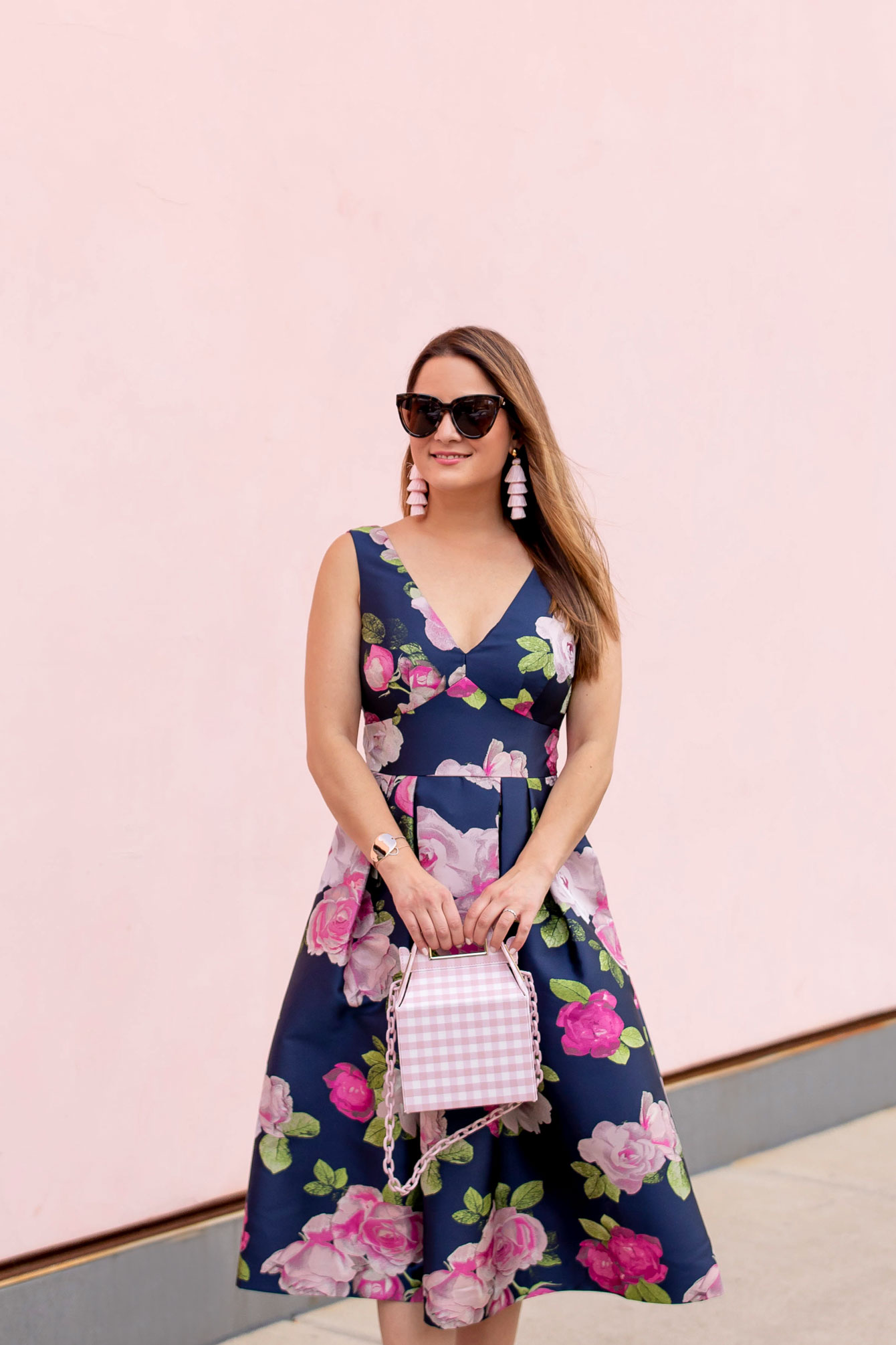 Eliza K Floral Fit and Flare Dress