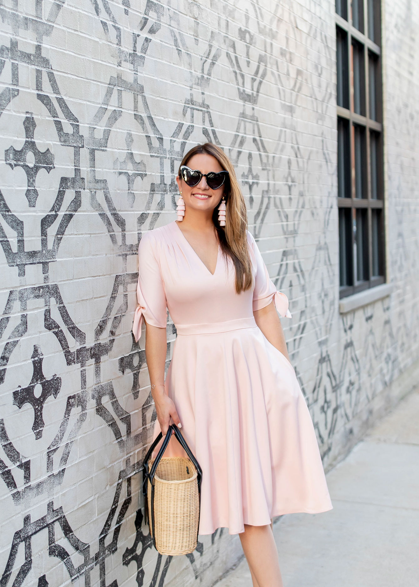 Gal Meets Glam Pink Fit Flare Dress