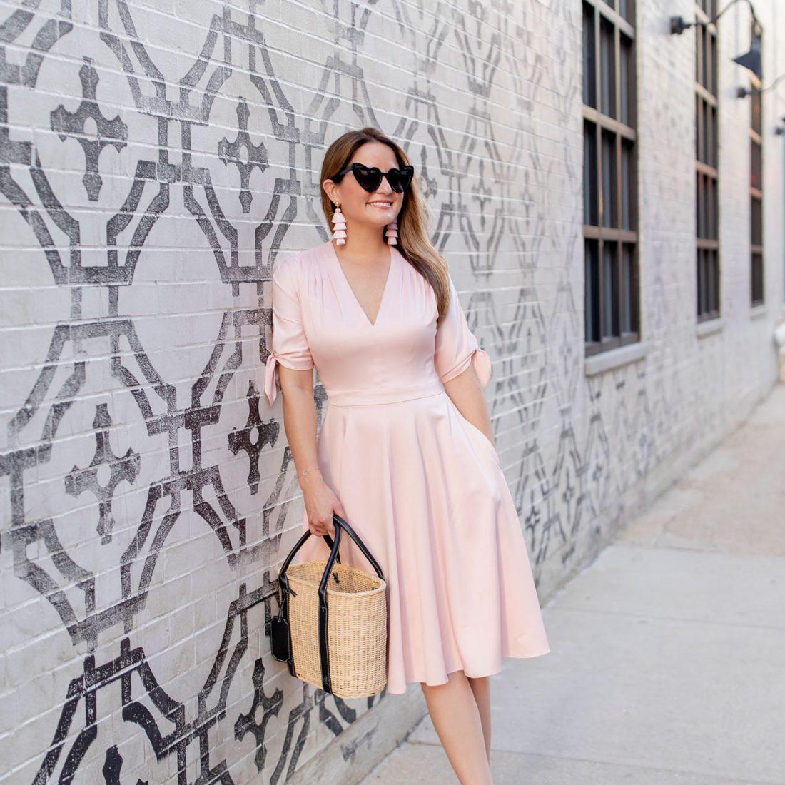 Gal Meets Glam Pink V Neck Dress