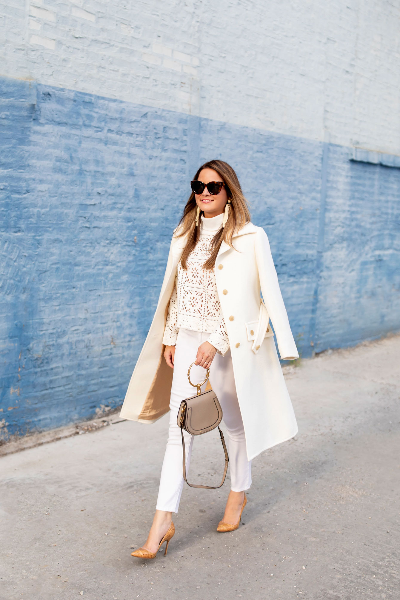 Chloe Ivory Wool Coat