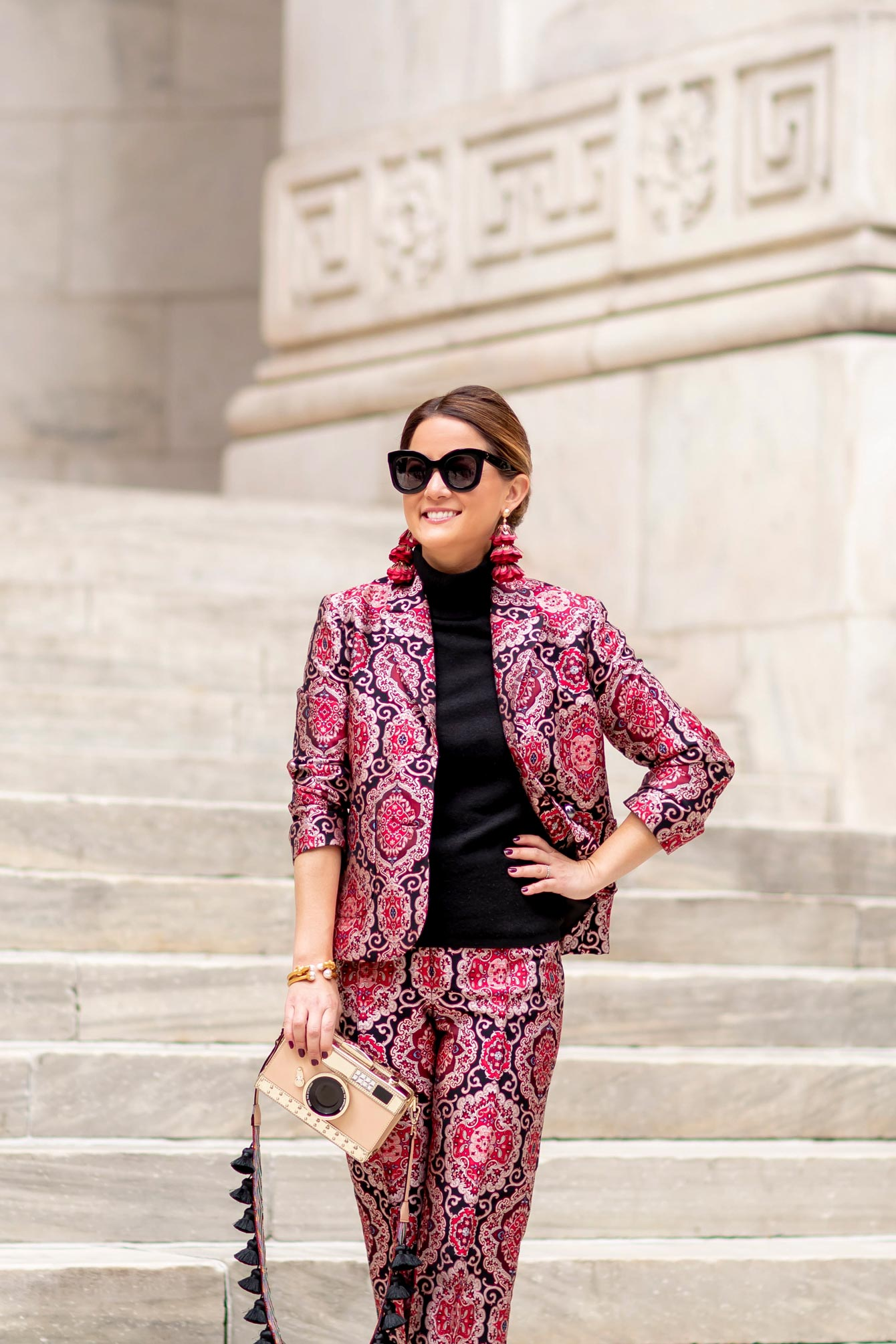 kate spade Burgundy Brocade Suit