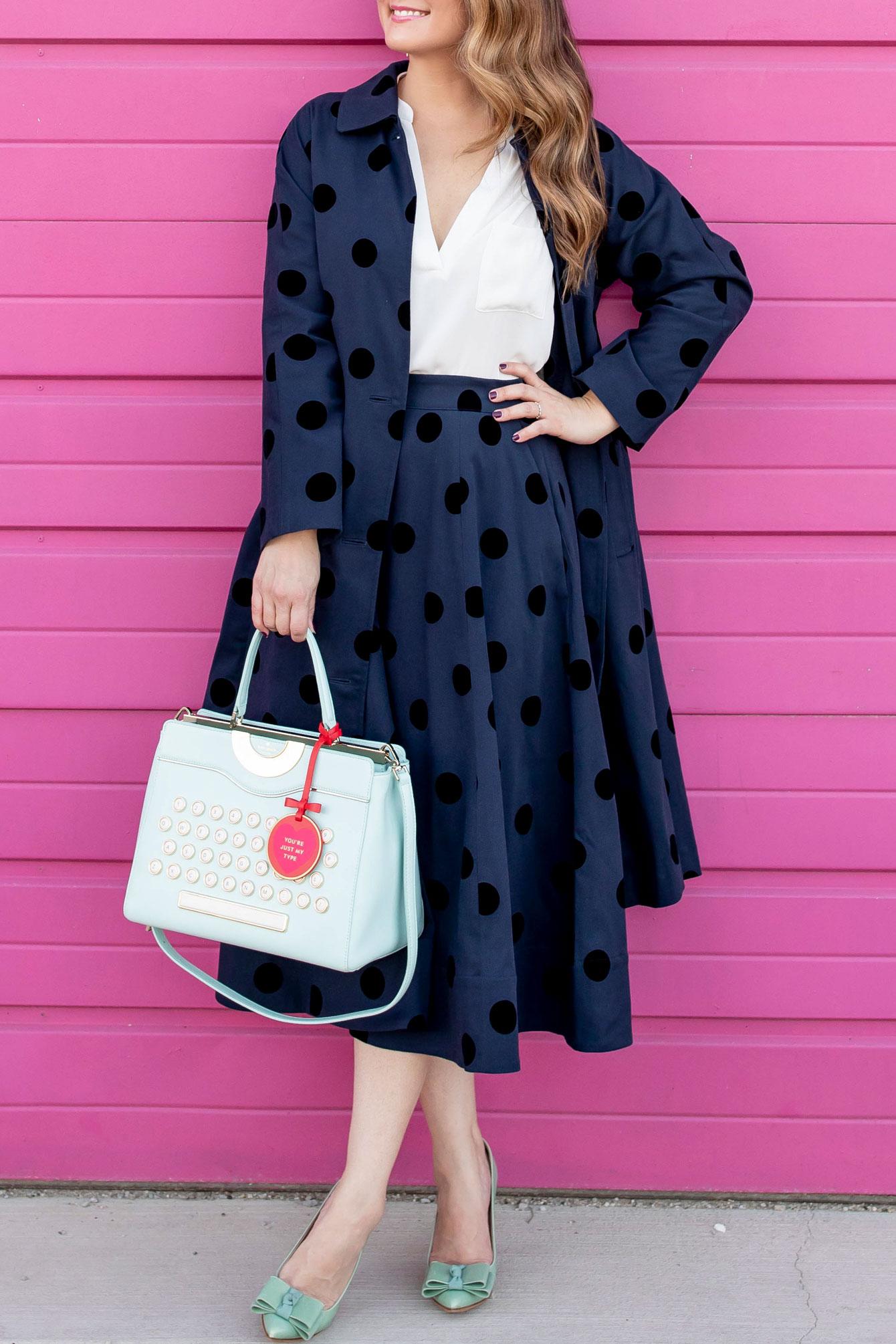 Kate Spade Turquoise Typewriter Bag