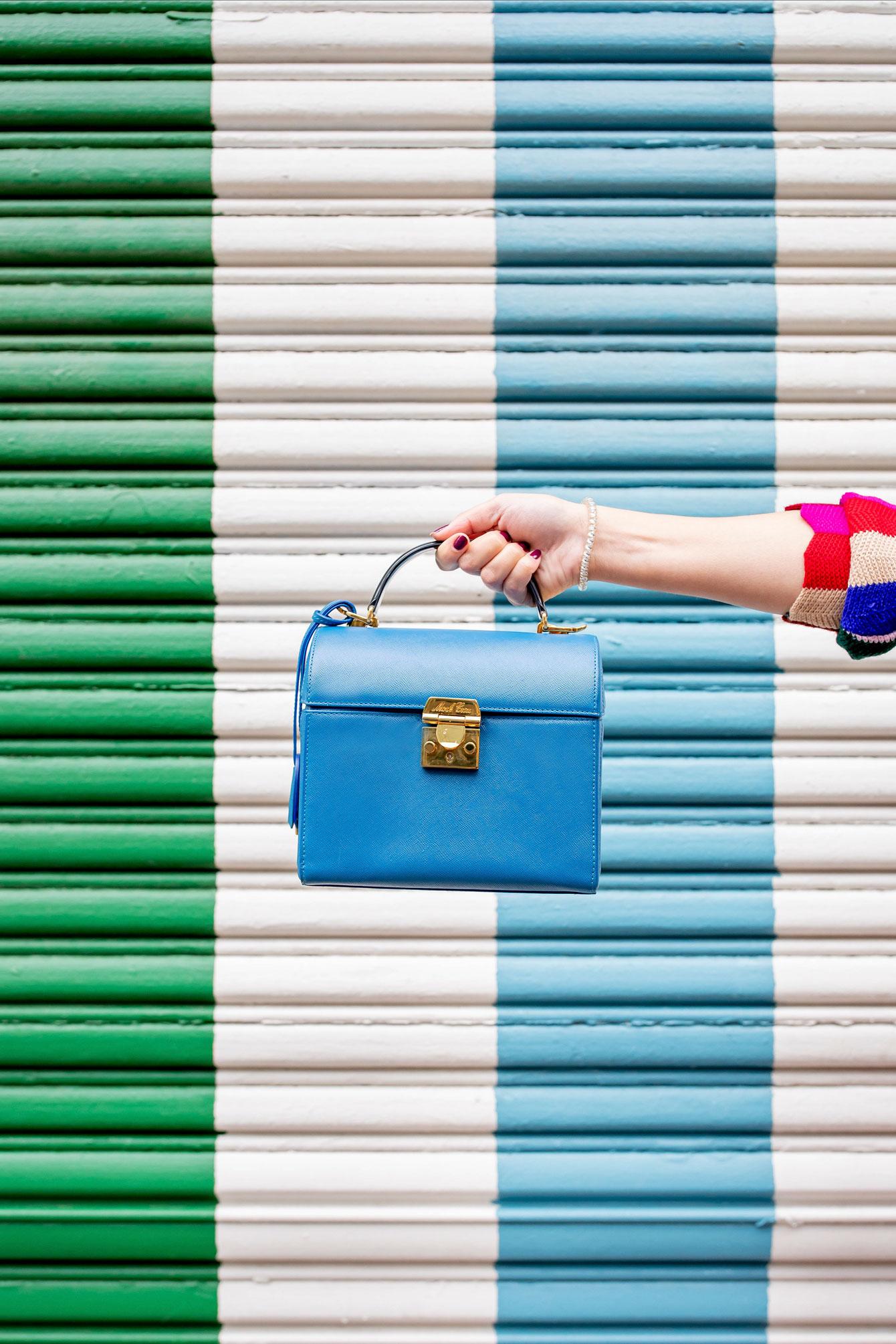 Mark Cross Blue Sara Bag