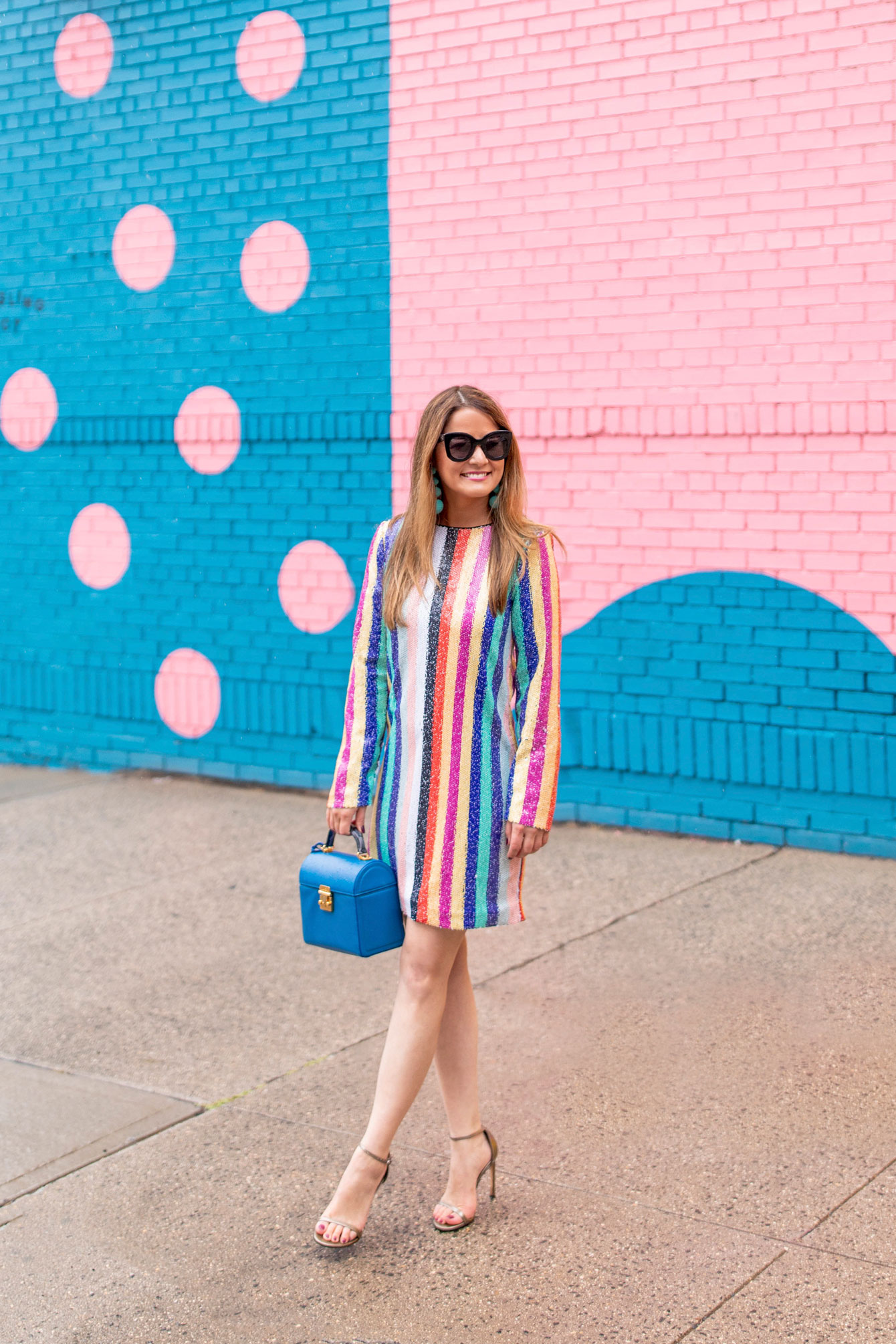 Mestiza Rainbow Stripe Sequin Dress