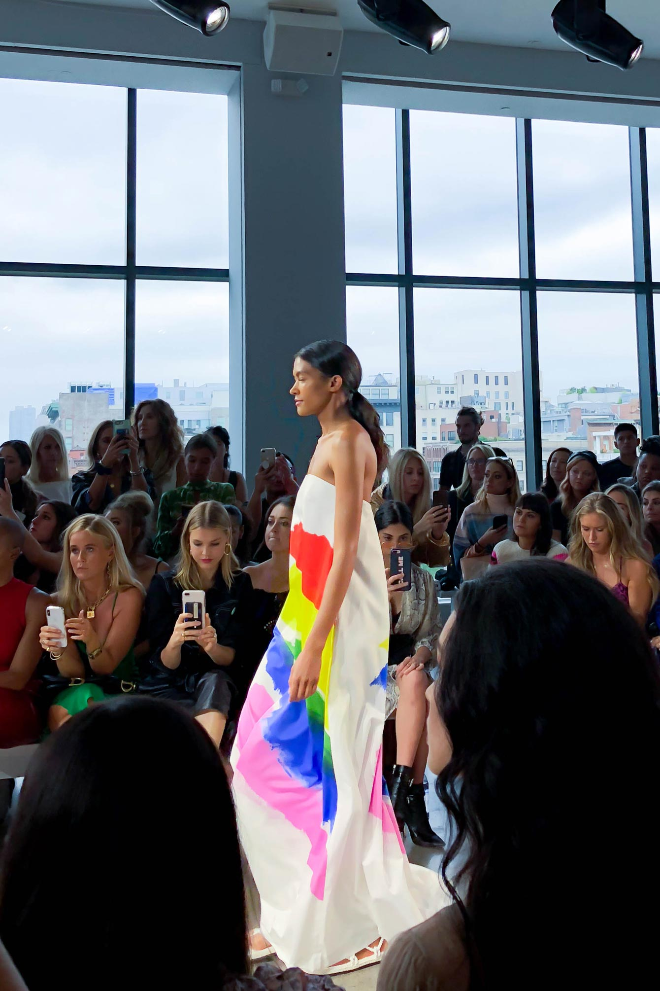 Milly Spring 2019 Rainbow Maxi Dress