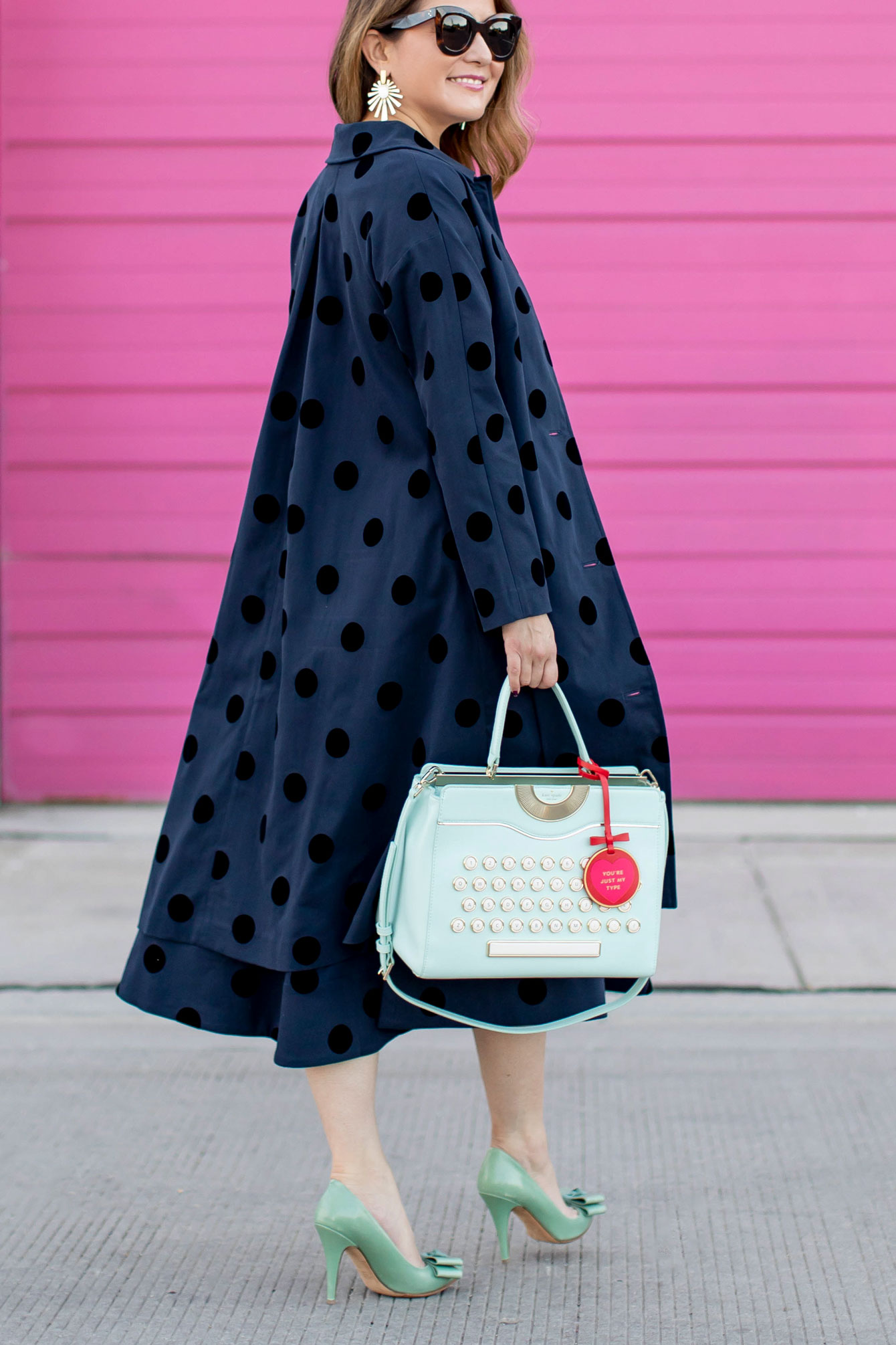 Navy Polka Dot Topcoat