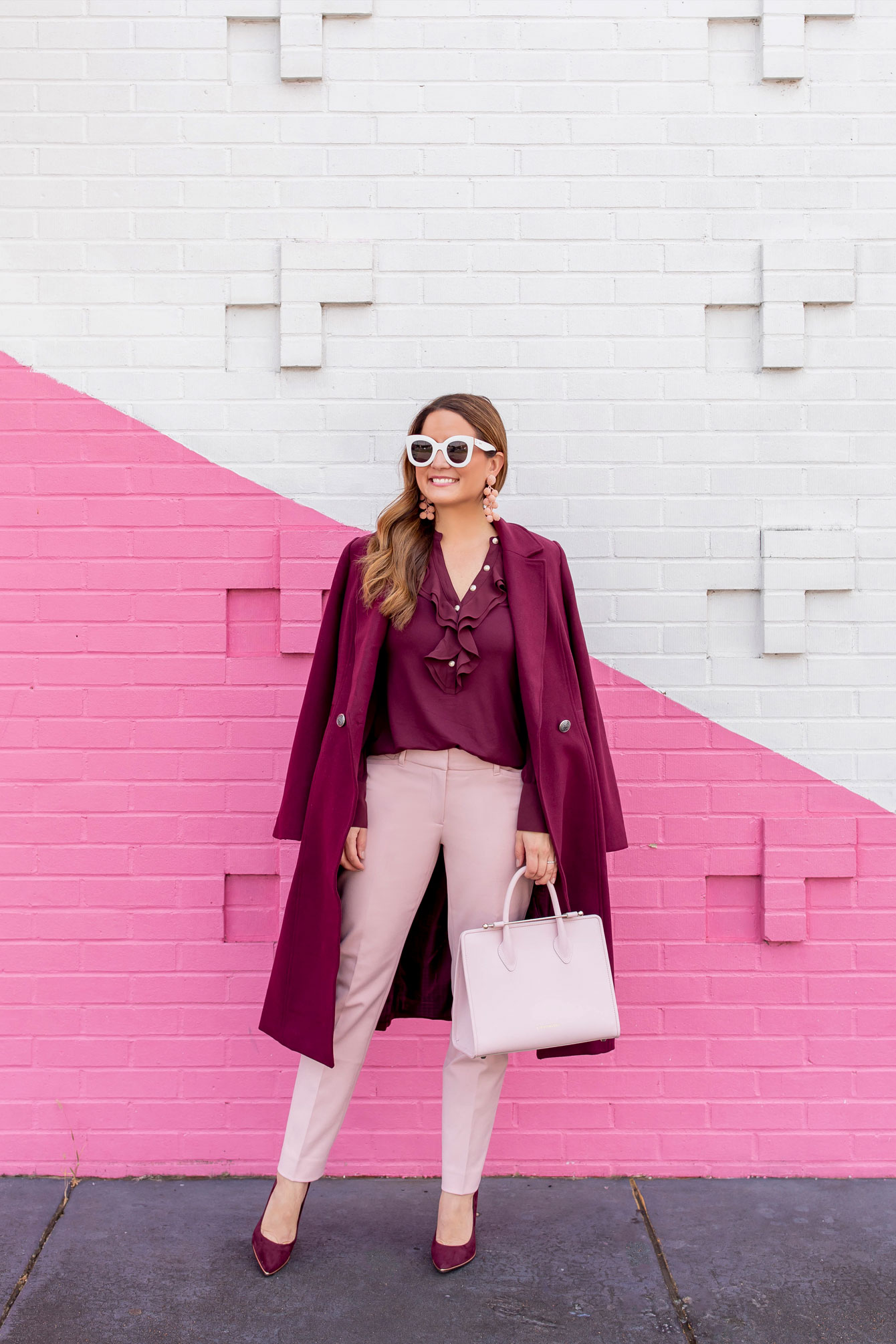 Pink Burgundy Outfit