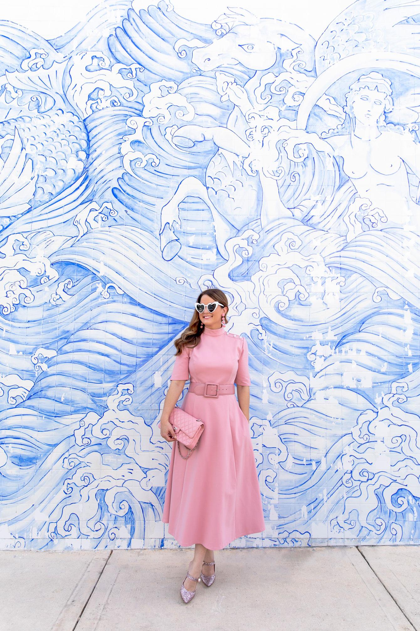 Blue Wave Tile Mural Miami