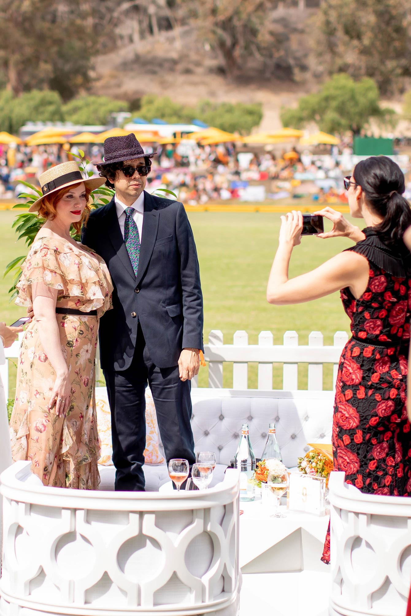 Christina Hendricks Veuve Clicquot Polo Classic