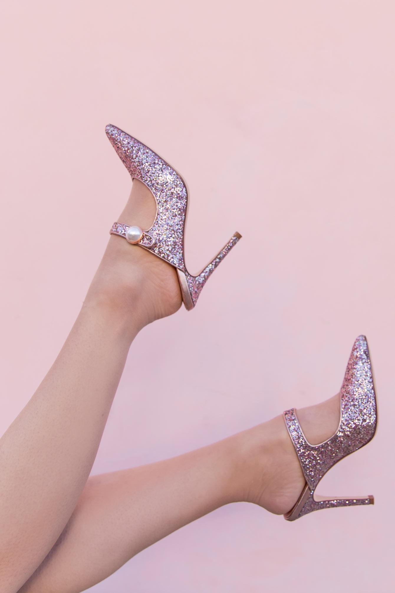 Halogen x Atlantic-Pacific Glitter Heels