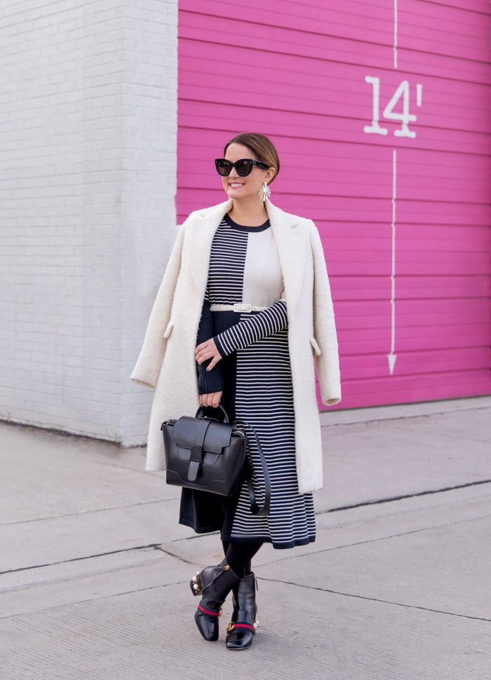 Styling a Stripe Midi Sweater Dress Three Ways