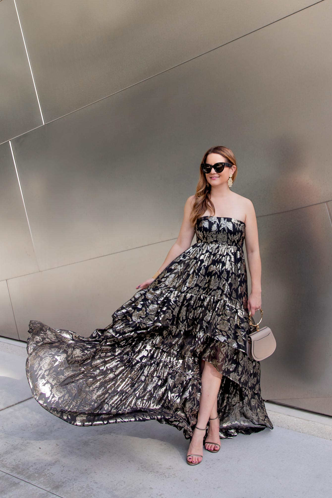 Mestiza New York Metallic Gown
