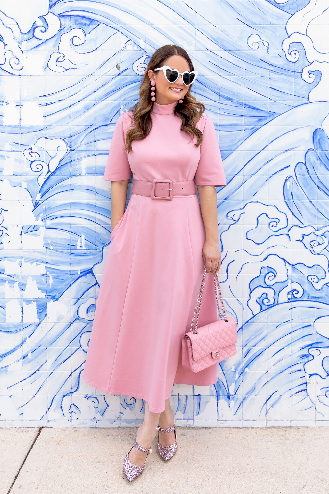 Pink Chanel Medium Caviar Flap Bag