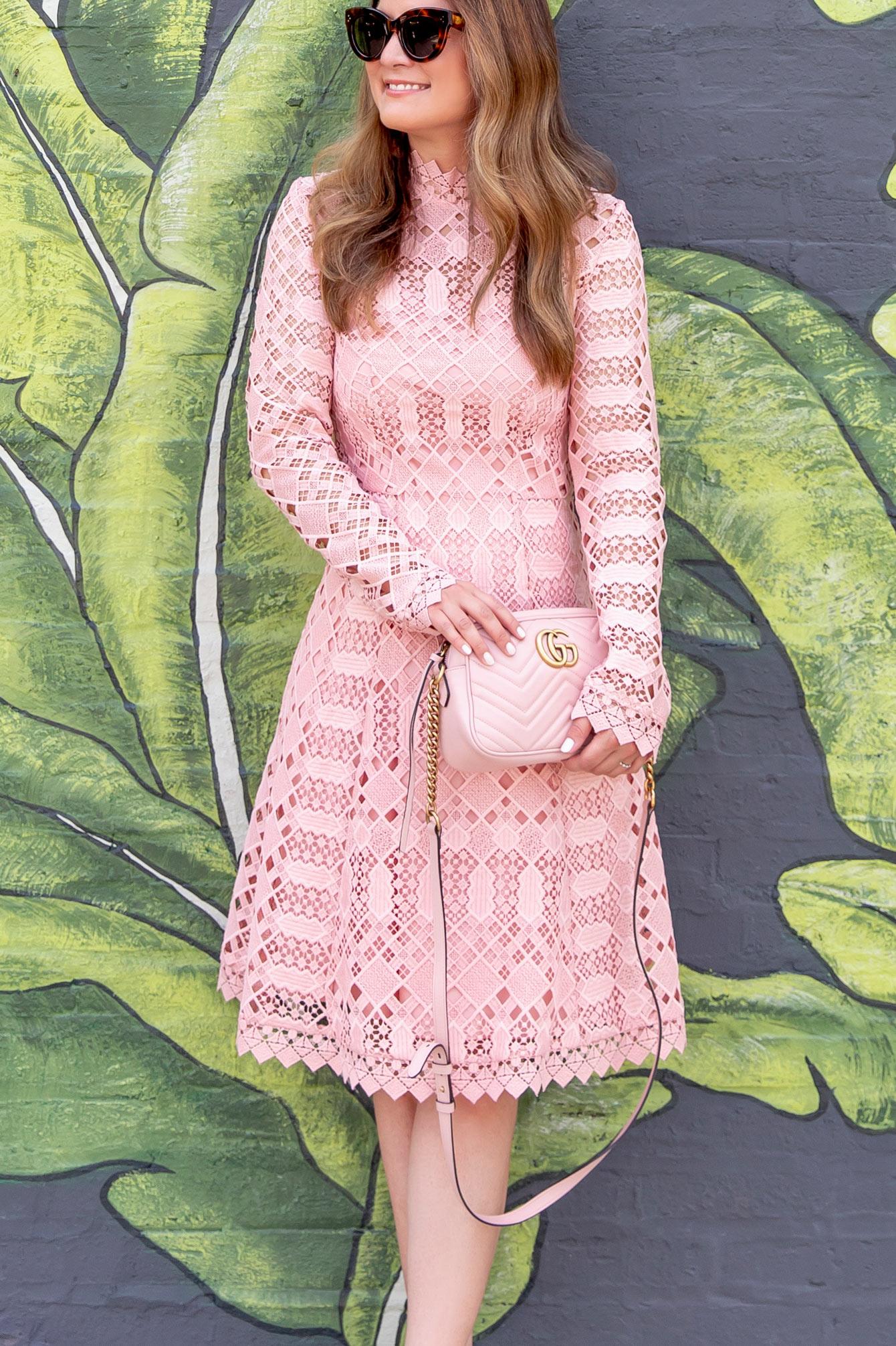 Pink Gucci Marmont Camera Bag