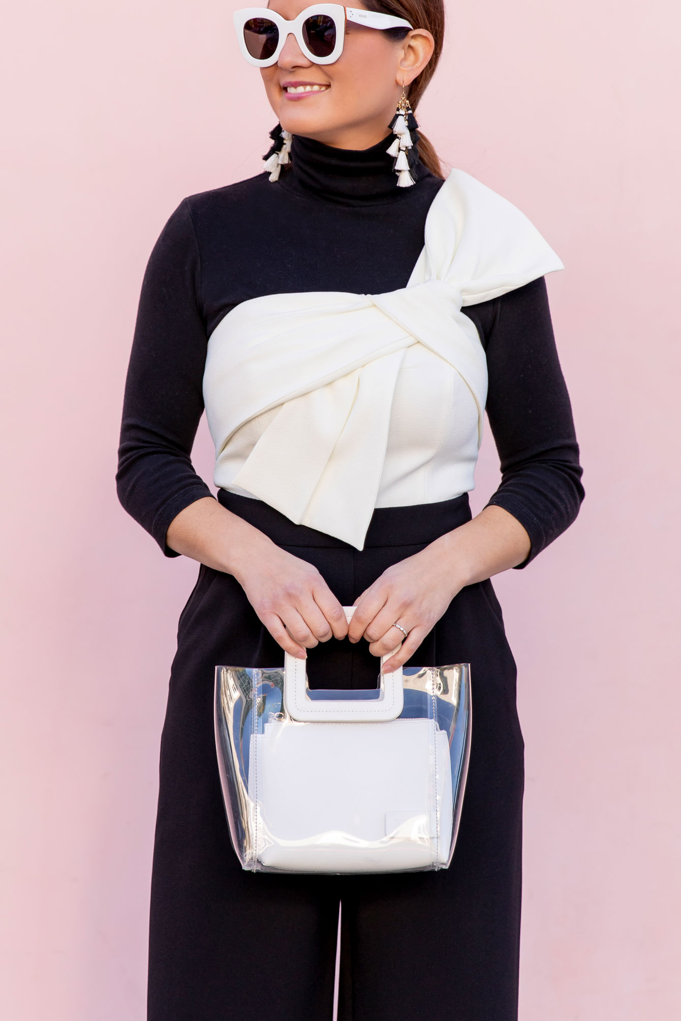 Staud White Mini Shirley Bag