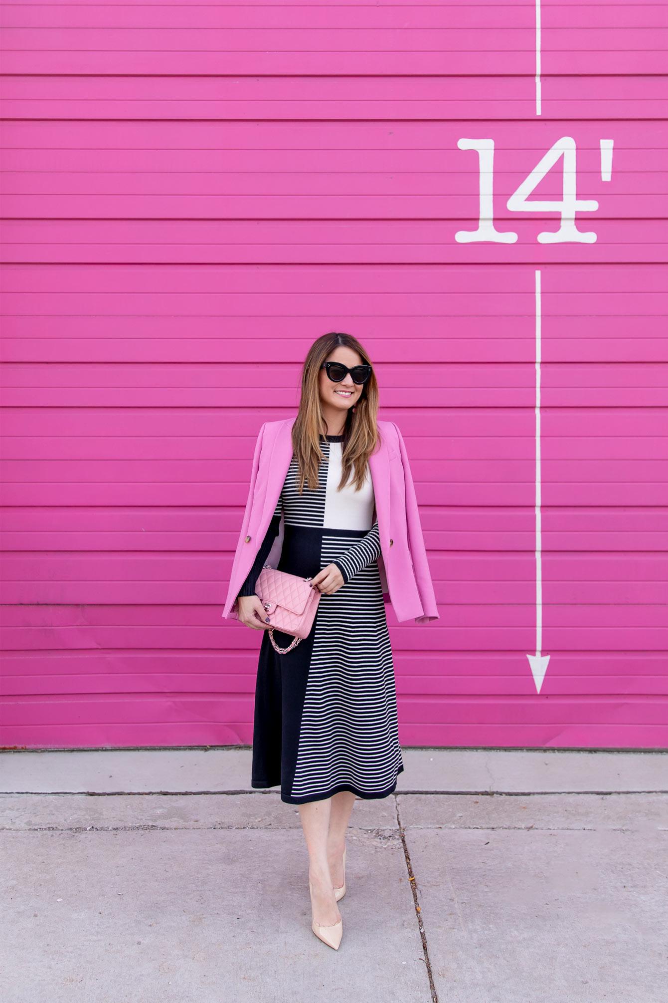 Stripe Midi Sweater Dress