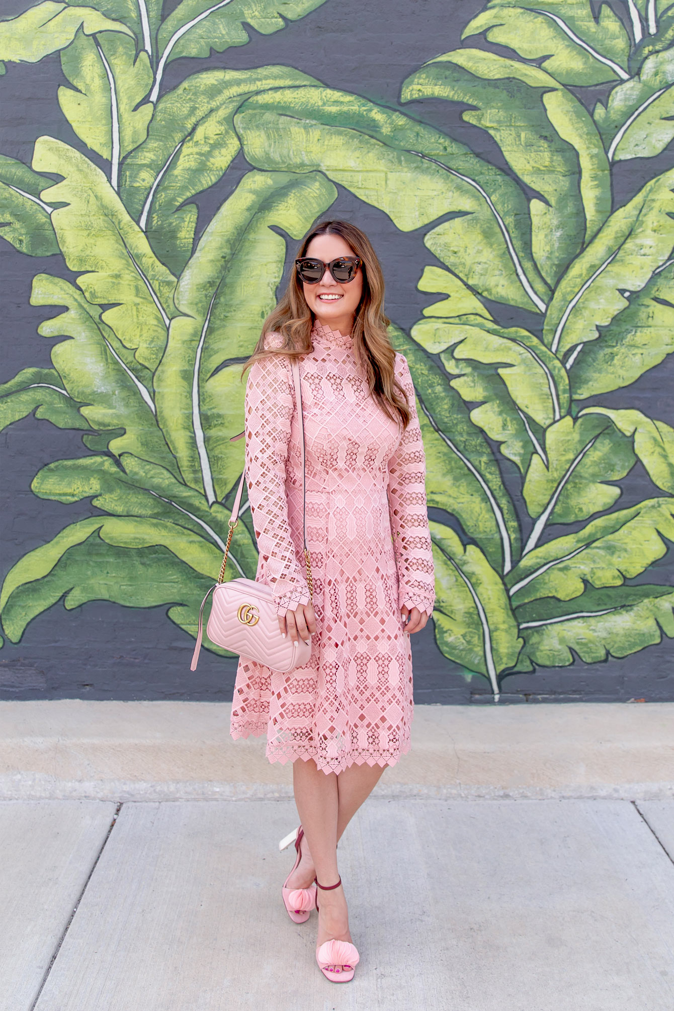 Temperley London Pink Lace Amelia Dress