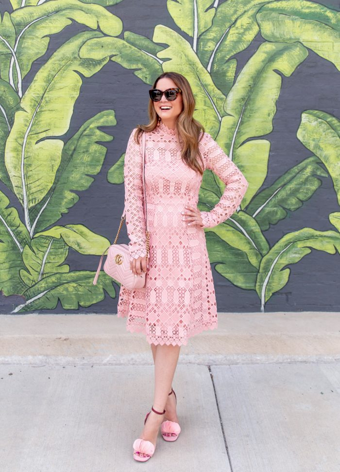 Temperley London Pink Lace Dress