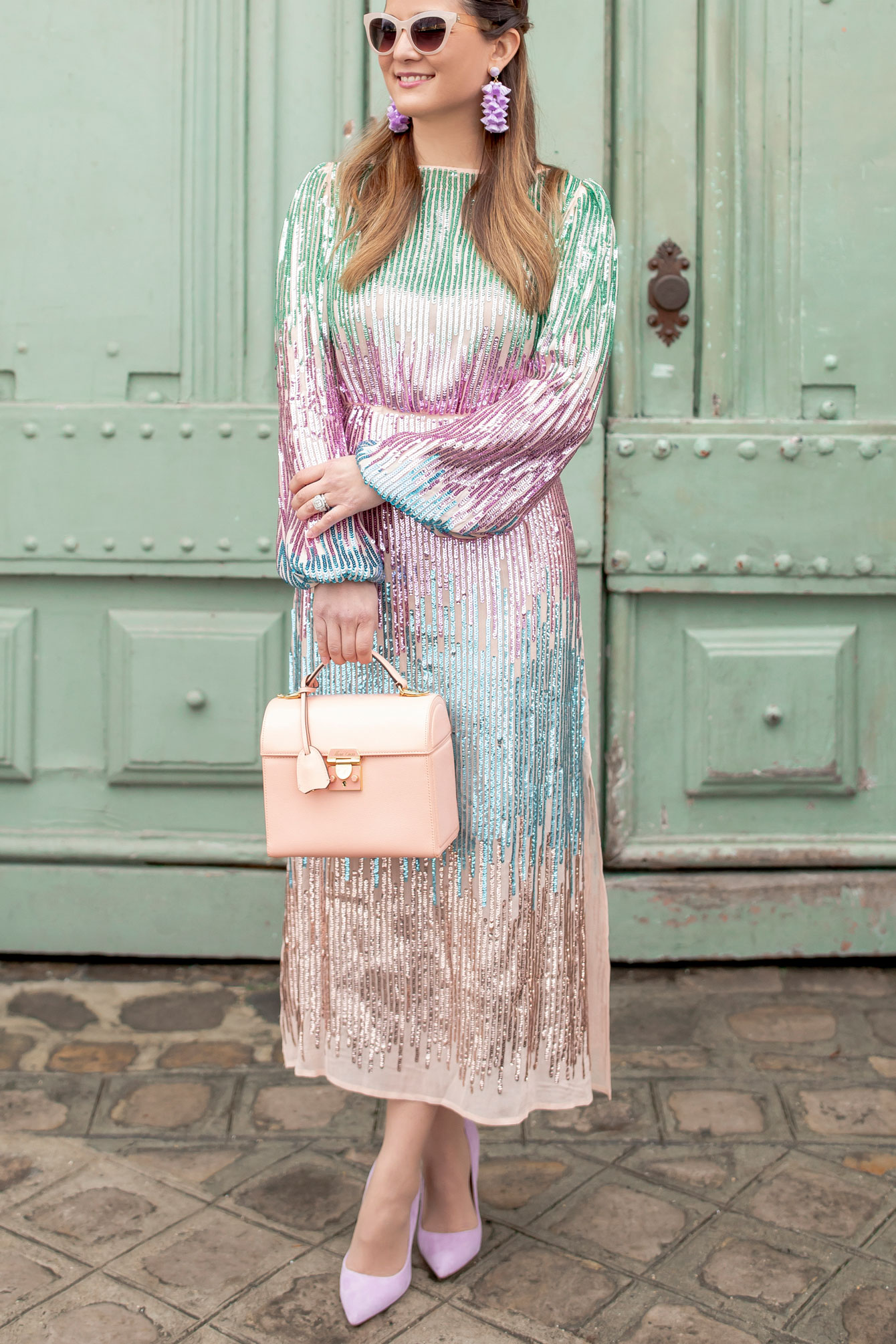 Jennifer Lake Sequin Ombre Dress