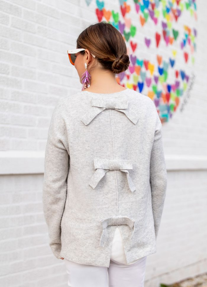 Bow Back Sweater // Friday Charades