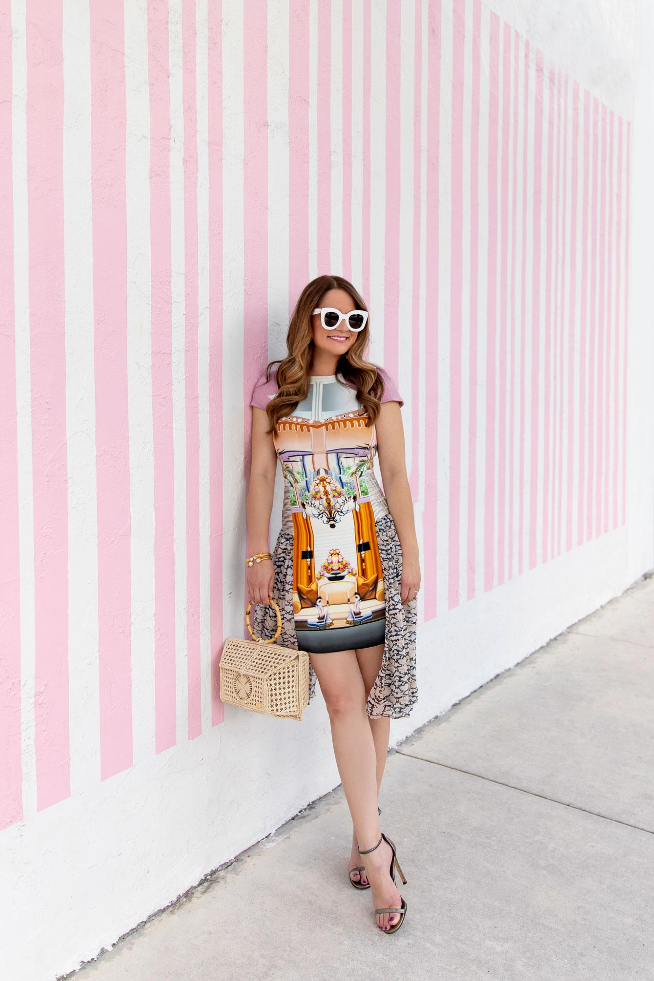 Pink Stripe Wall Miami
