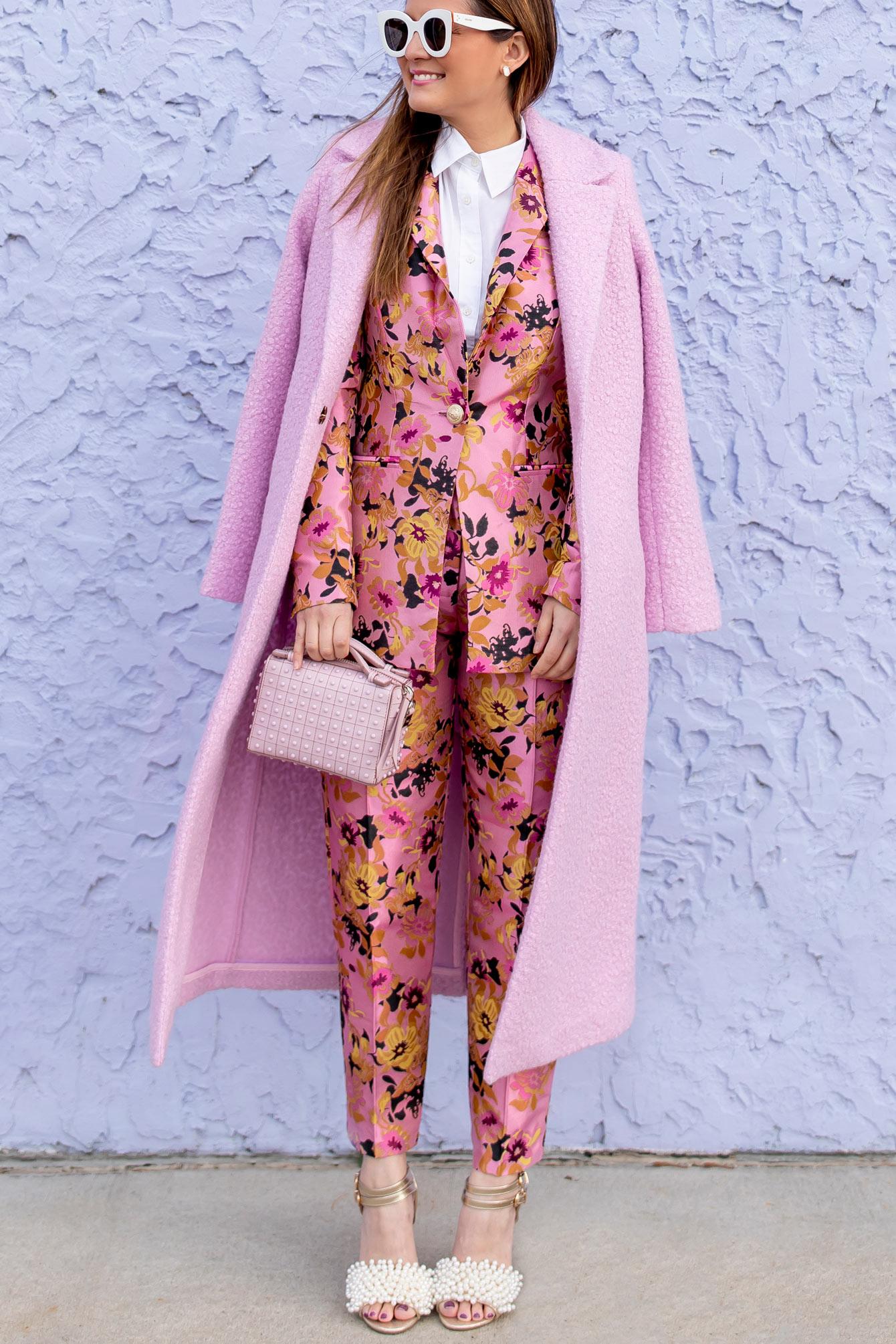 River Island Pink Long Coat