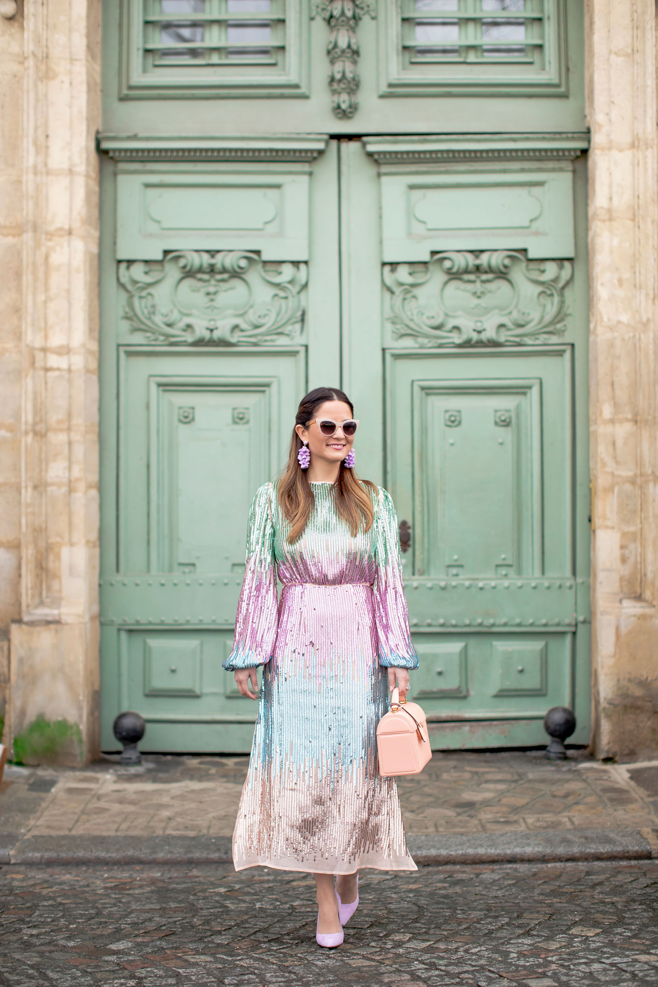 Rixo Sequin Ombre Dress