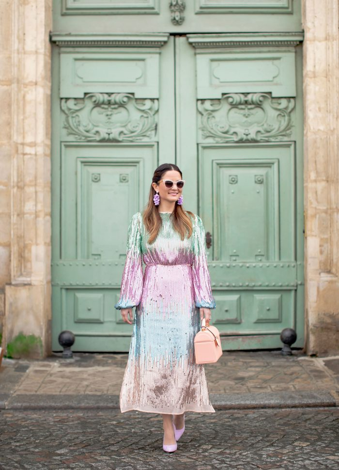My Favorite Sequin Ombre Dress in Paris