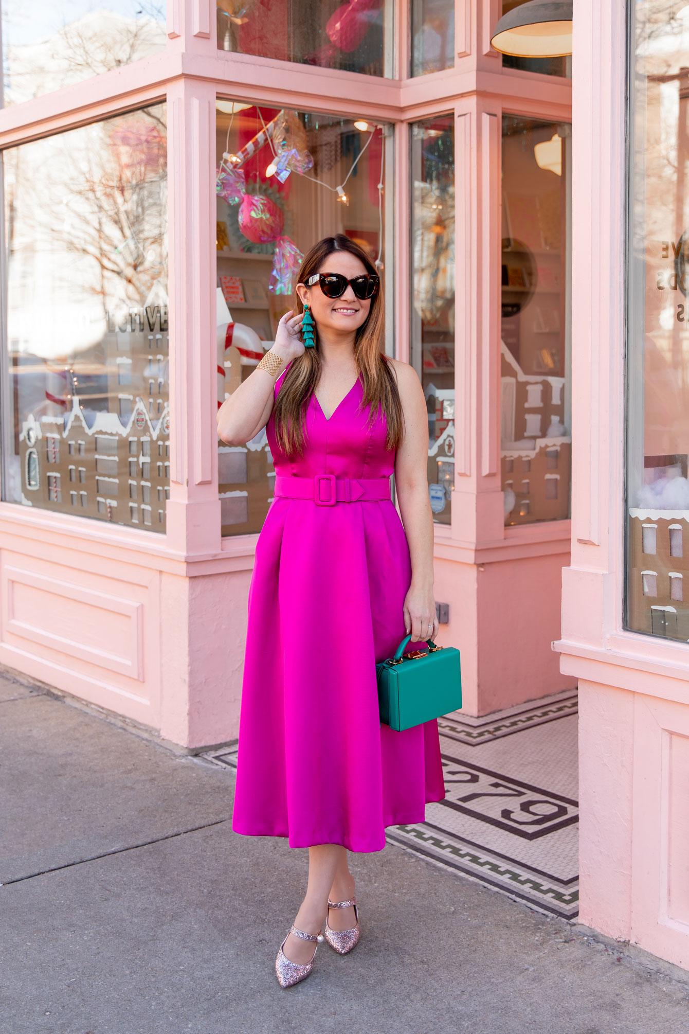 1901 Pink Midi Dress