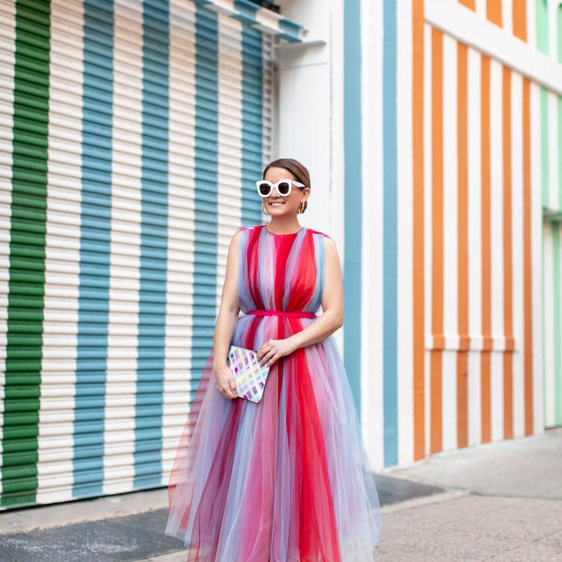Carolina Herrera Chiffon Dress
