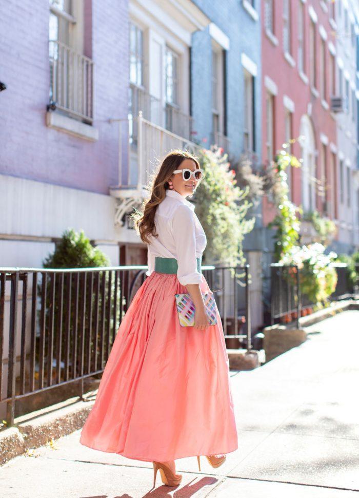 Carolina Herrera Pink Ball Skirt in Greenwich Village