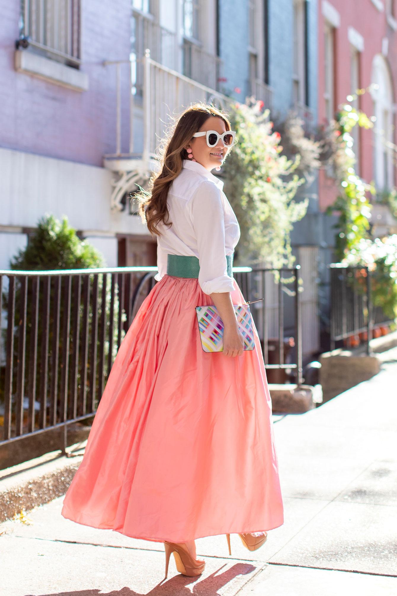 Carolina Herrera Pink Skirt