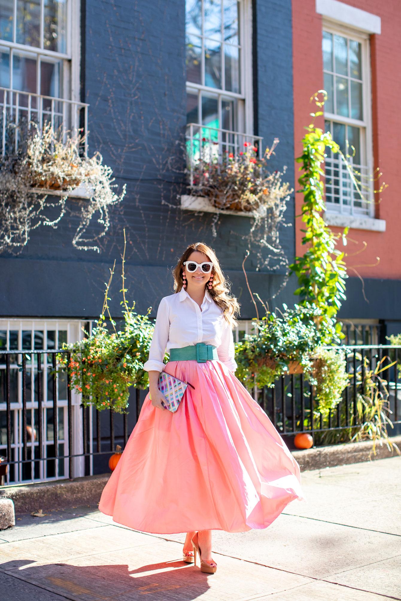 Jennifer Lake Pink Maxi Skirt
