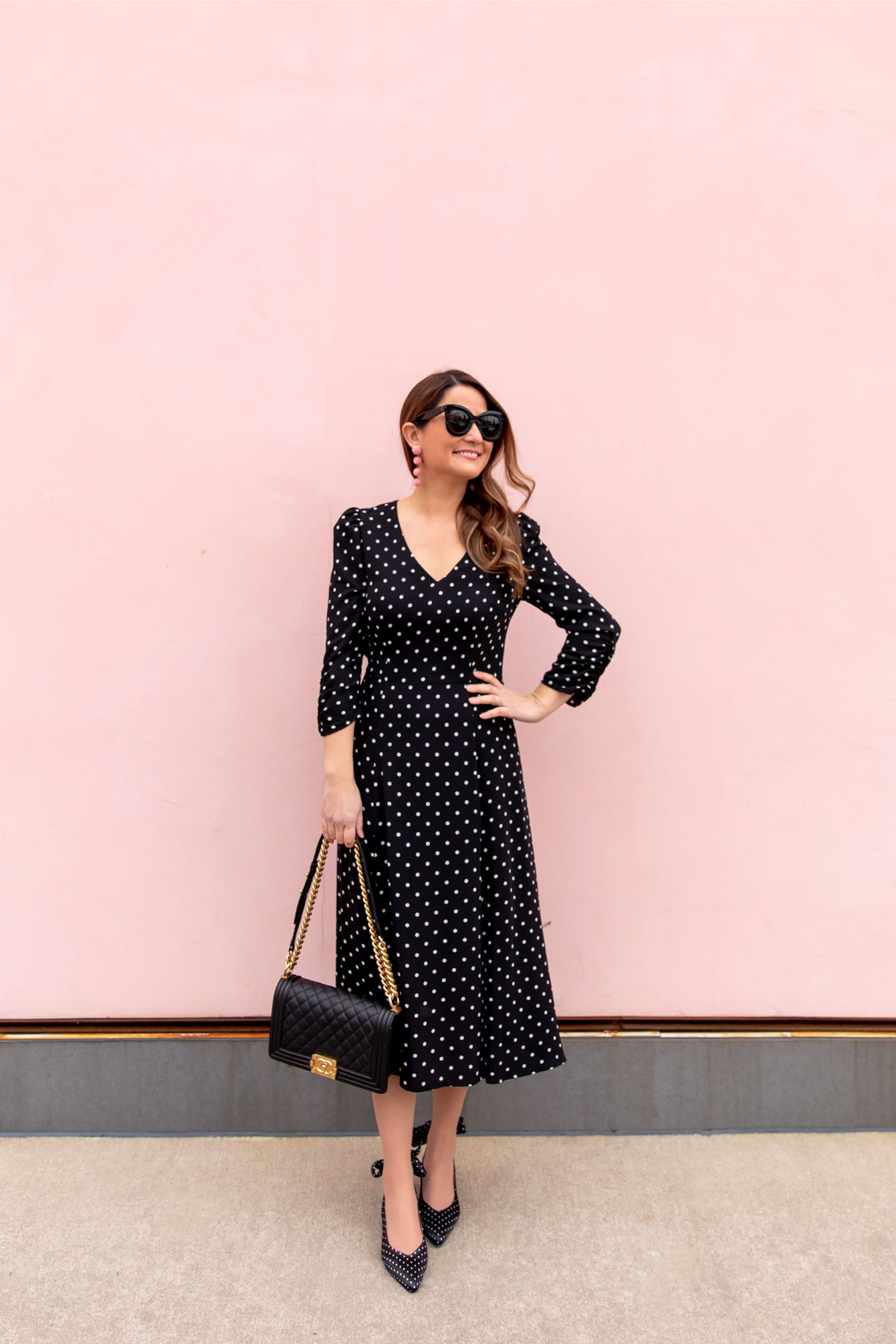 Jennifer Lake Polka Dot Dress